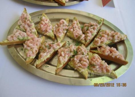 Baby Shrimp on Toast